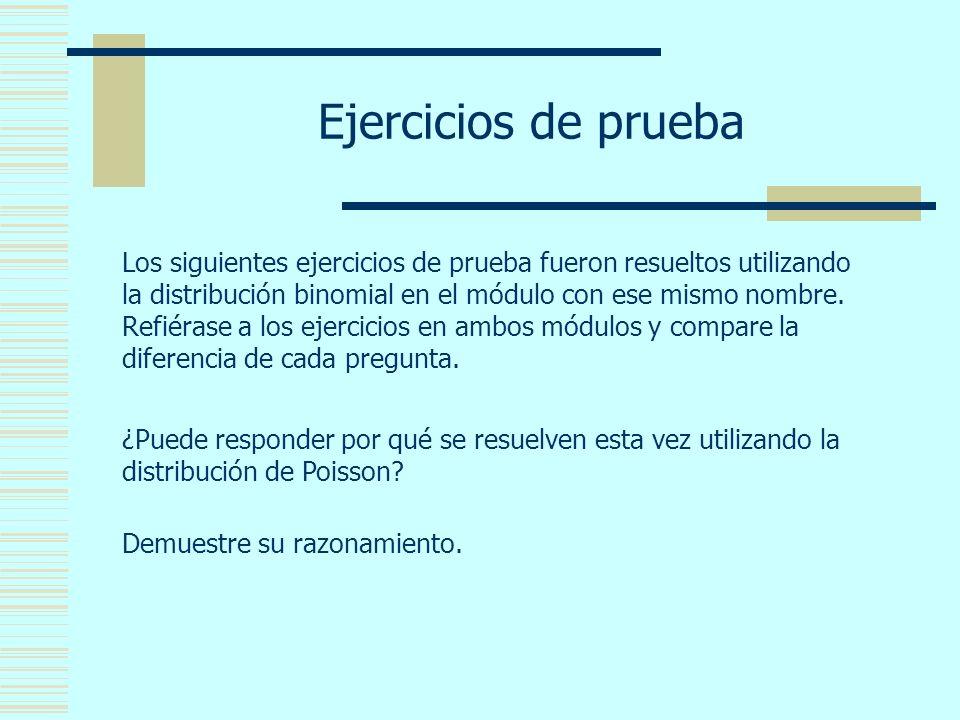 ejercicio resueltos distribucion poisson: