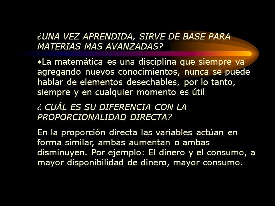 ENTREVISTA SOBRE LA PROPORCIONALIDAD INVERSA Para informarnos sobre las características de la proporcionalidad inversa hablamos con el profesor Uriel González O.