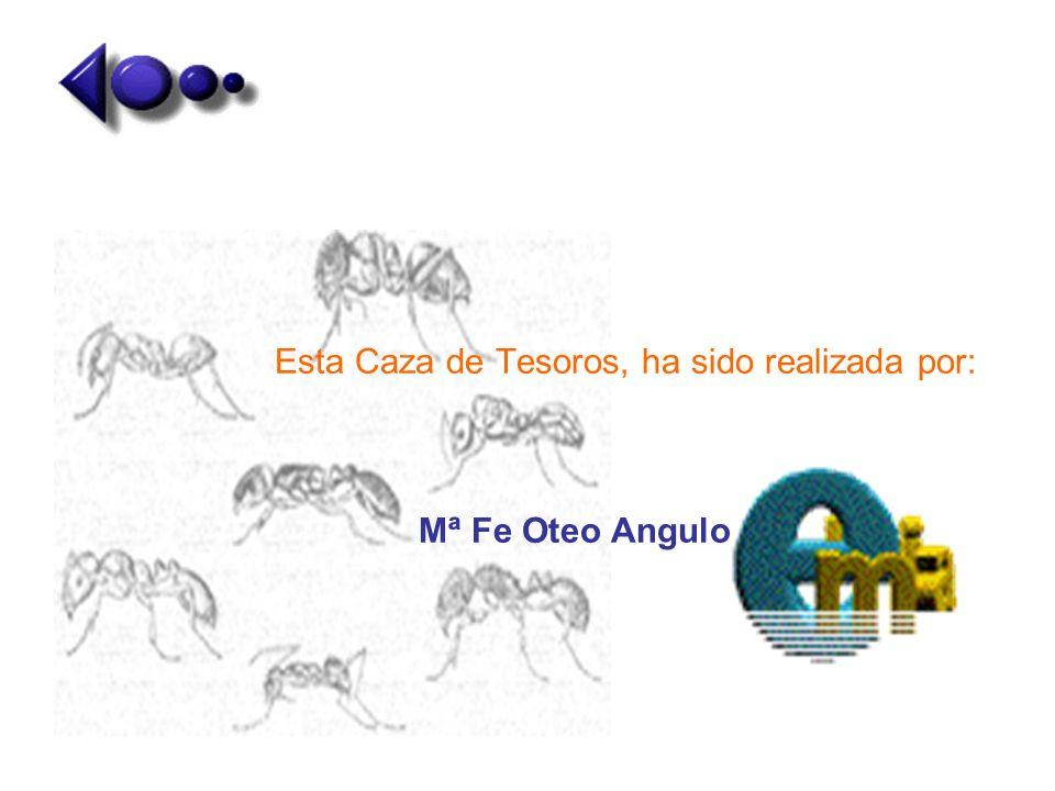 Esta Caza de Tesoros, ha sido realizada por: Mª Fe Oteo Angulo