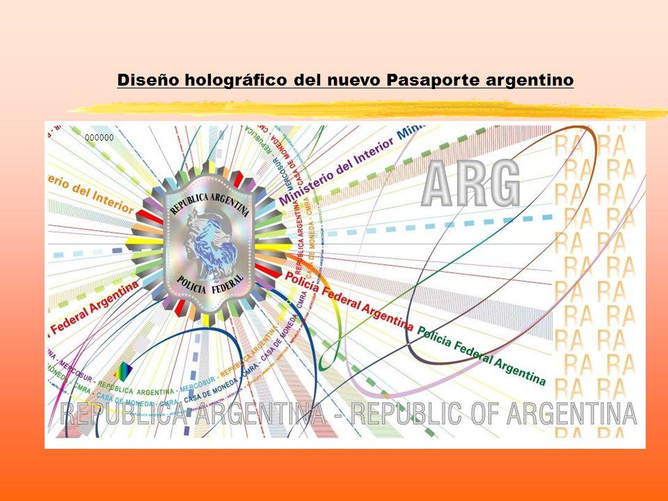 Diseño holográfico del nuevo Pasaporte argentino 000000
