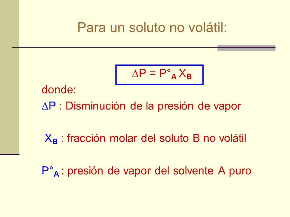 Fracción molar (X i ) Se define como la relación entre los moles de cada componente y los moles totales presentes en la mezcla.