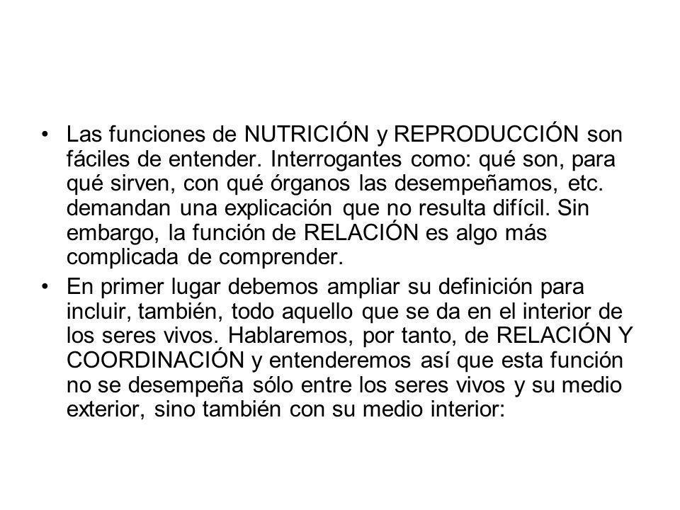 Las funciones de NUTRICIÓN y REPRODUCCIÓN son fáciles de entender. Interrogantes como: qué son, para qué sirven, con qué órganos las desempeñamos, etc