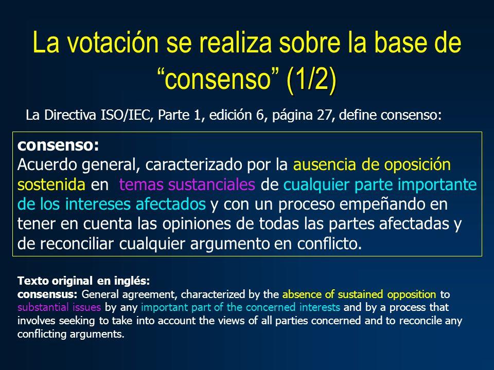 consenso: Acuerdo general, caracterizado por la ausencia de oposición sostenida en temas sustanciales de cualquier parte importante de los intereses a