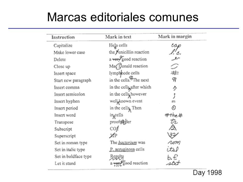 Marcas editoriales comunes Day 1998