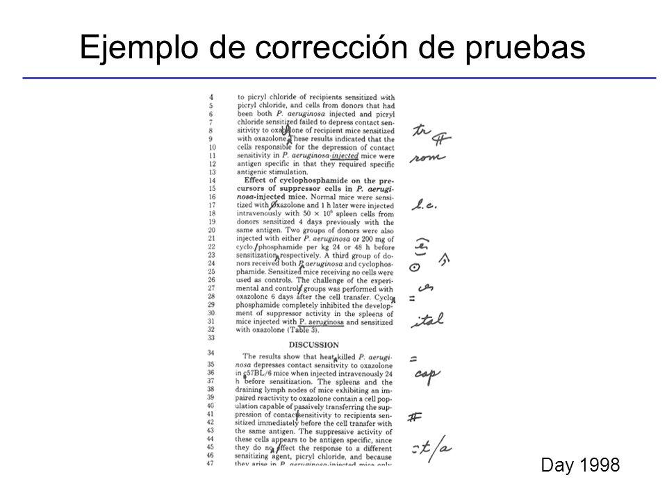 Ejemplo de corrección de pruebas