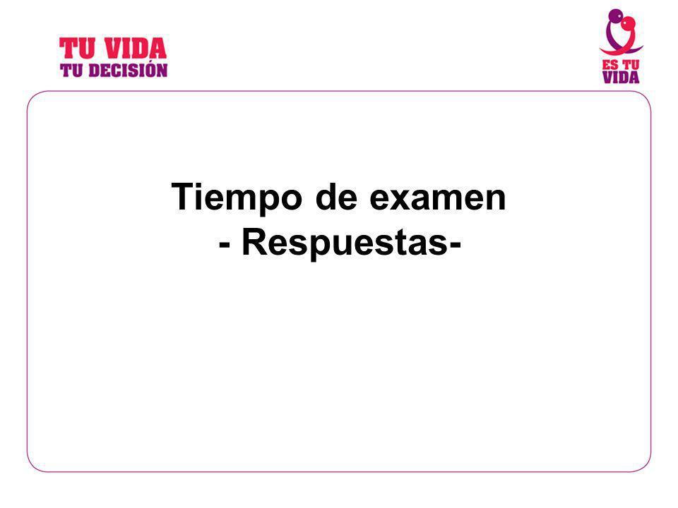 Tiempo de examen - Respuestas-