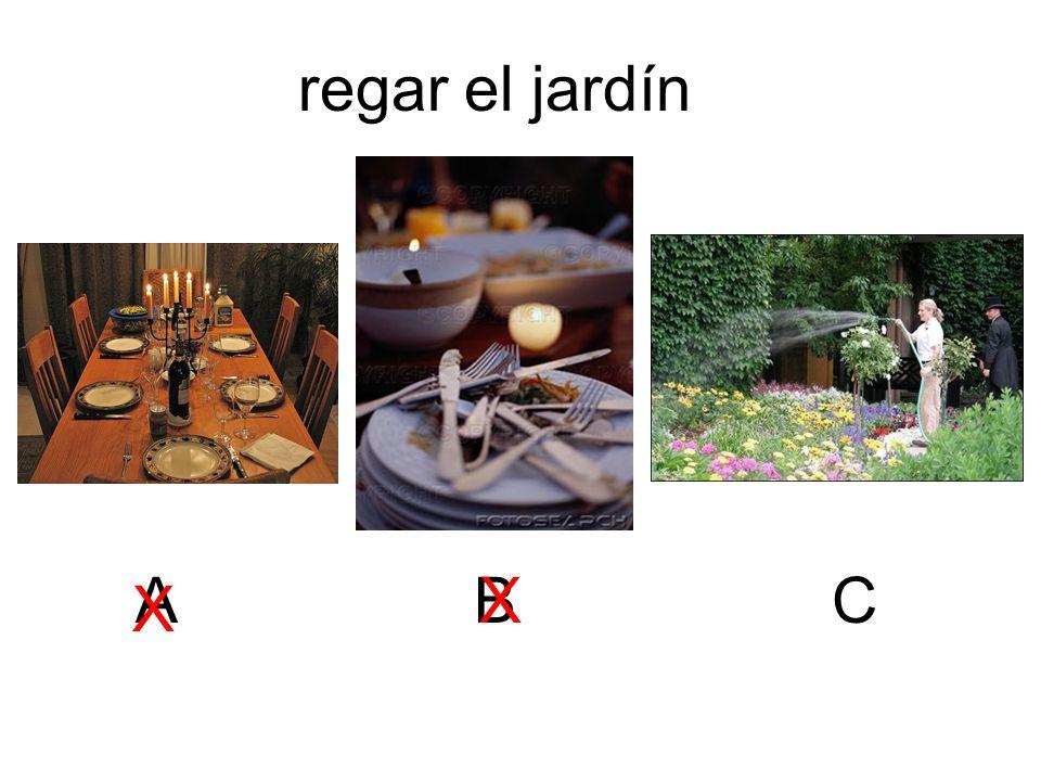 regar el jardín ABC X X