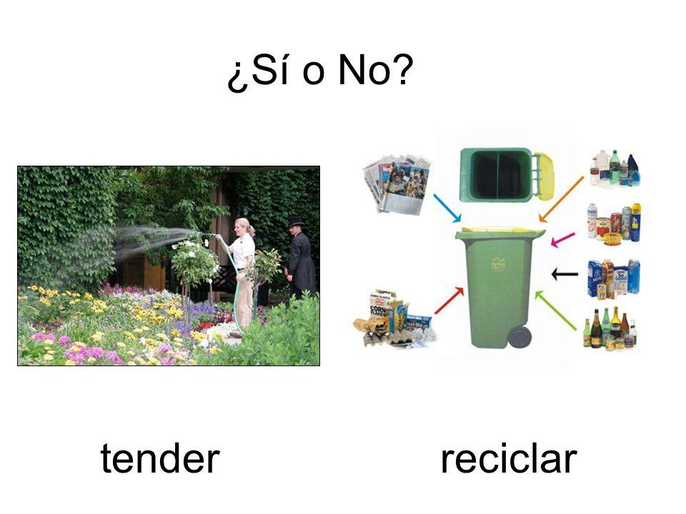 ¿Sí o No? reciclartender