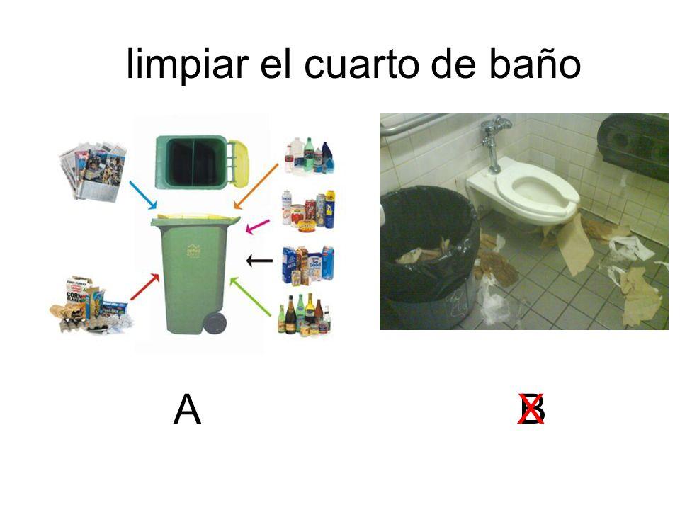 limpiar el cuarto de baño ABX