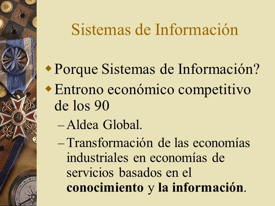 El medio ambiente cambiante de los negocios en los 90 Tabla 1.1 – pag 7