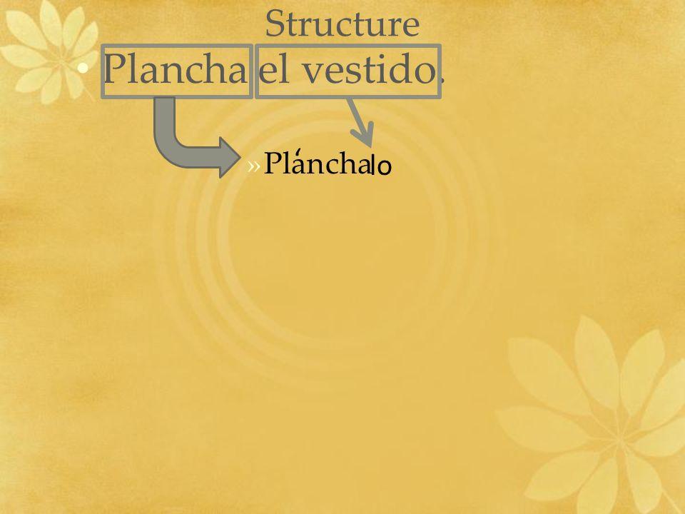 Structure Plancha el vestido. »Plancha lo