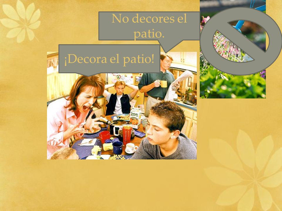 ¡Decora el patio! No decores el patio.
