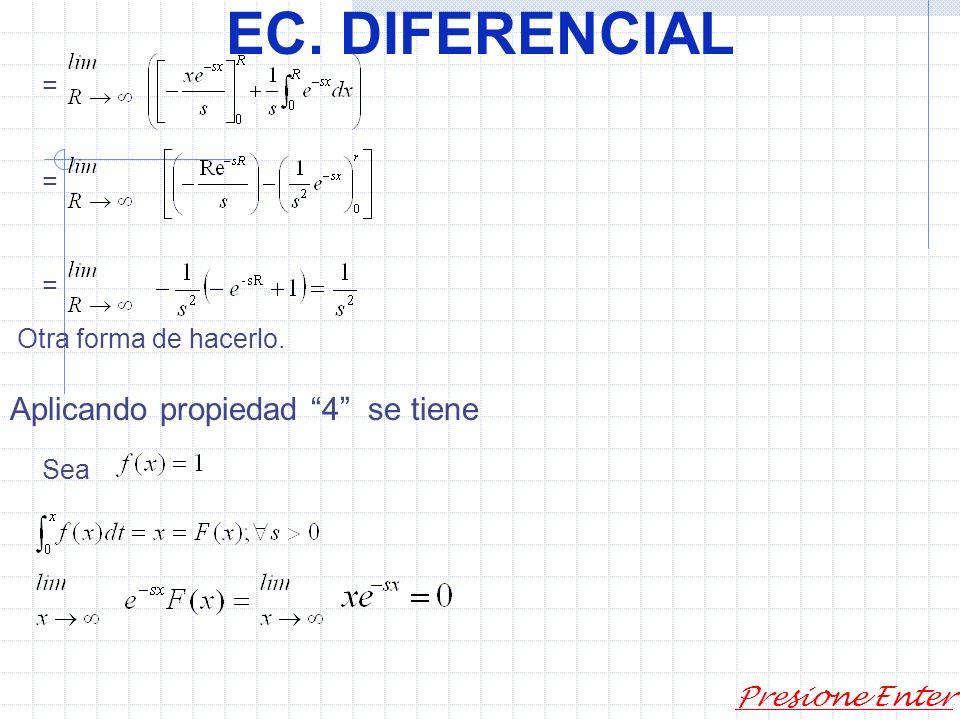 EC. DIFERENCIAL Presione Enter 2) siyson continuas enyentonces 3) si es continua en y entonces existe en s. Si Y sólo si existe en s y. 4) (como lo de