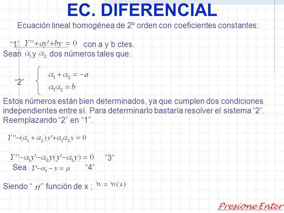 EC. DIFERENCIAL Presione Enter 2