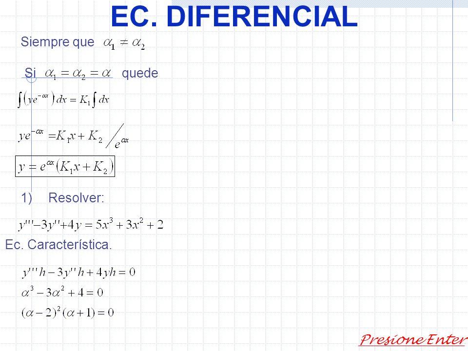 EC. DIFERENCIAL Presione Enter