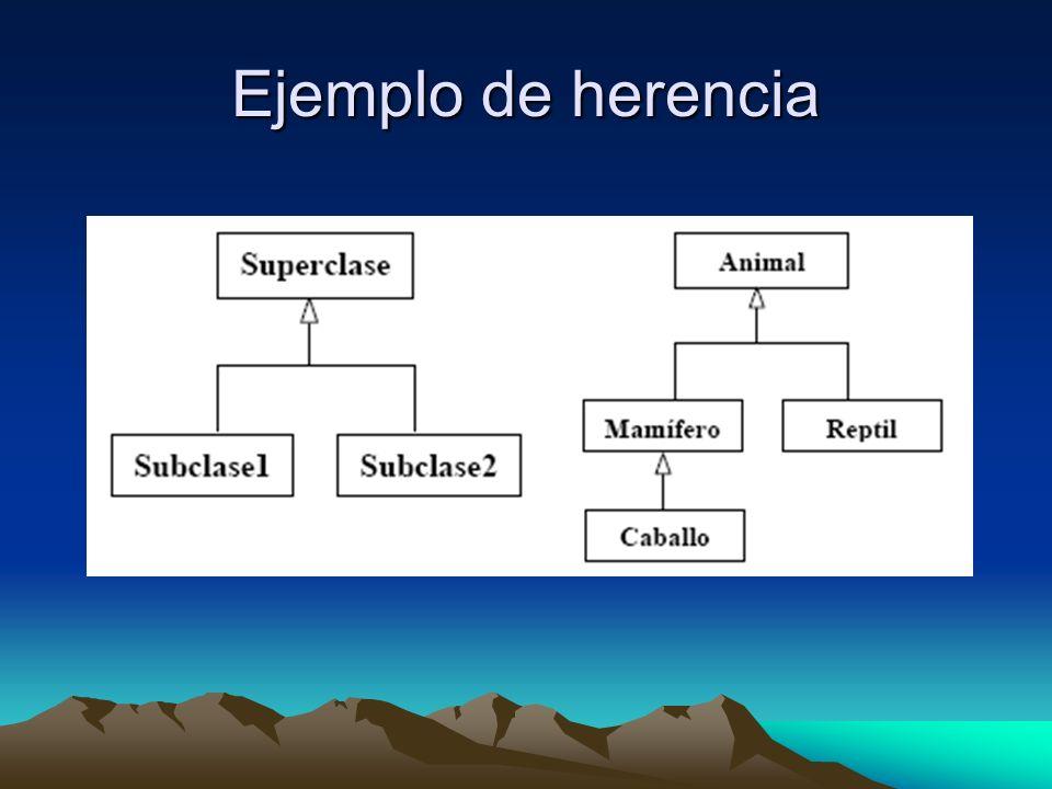 Ejemplo de herencia