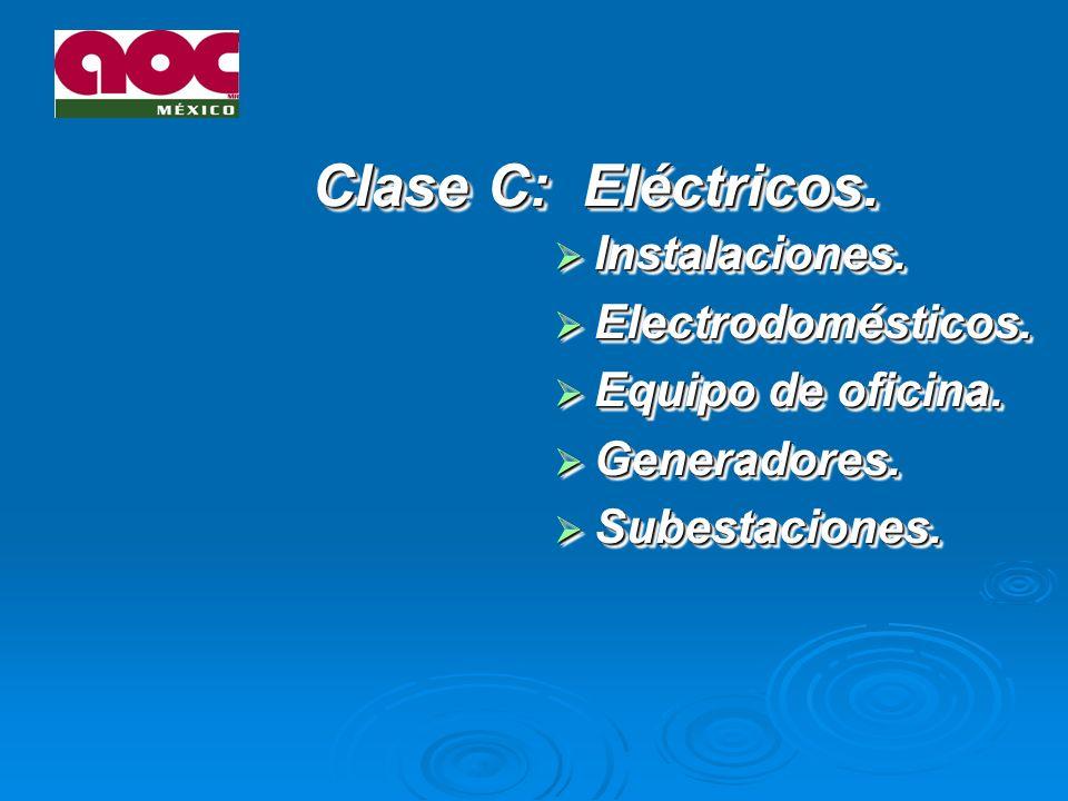 Clase C: Eléctricos.Instalaciones. Instalaciones.