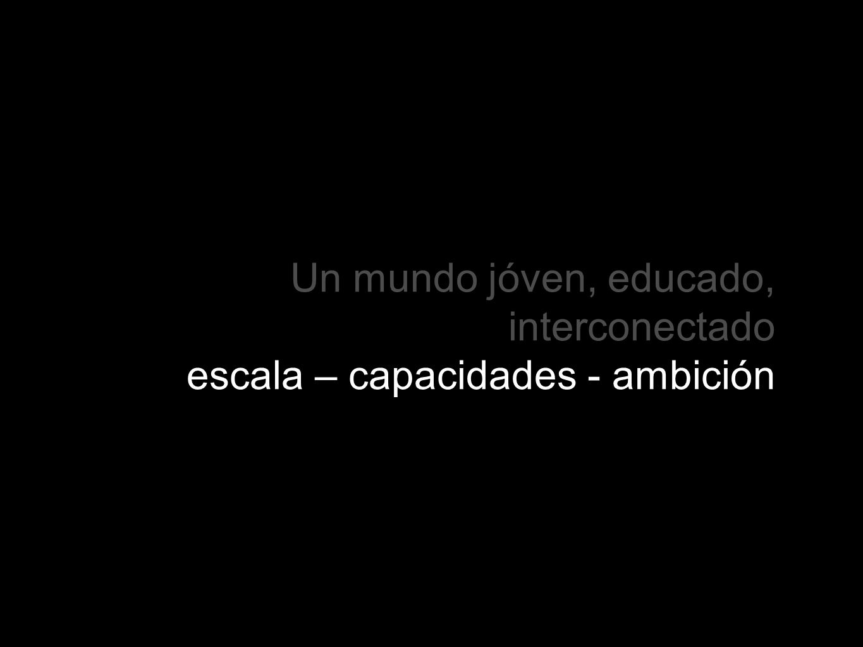 Un mundo jóven, educado, interconectado escala – capacidades - ambición
