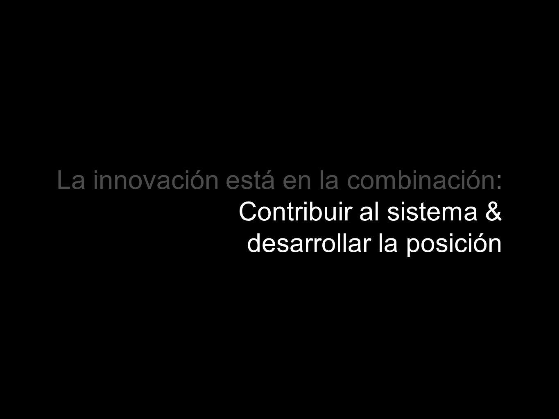 La innovación está en la combinación: Contribuir al sistema & desarrollar la posición