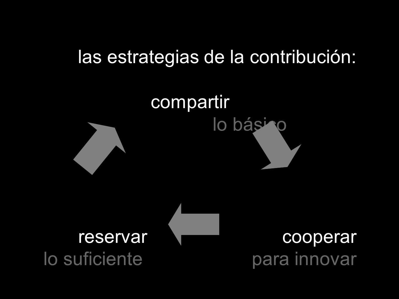 las estrategias de la contribución: compartir lo básico reservar cooperar lo suficiente para innovar