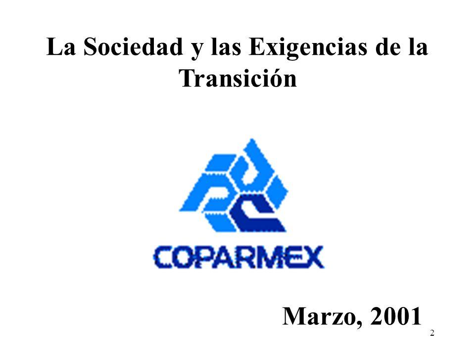 2 La Sociedad y las Exigencias de la Transición Marzo, 2001