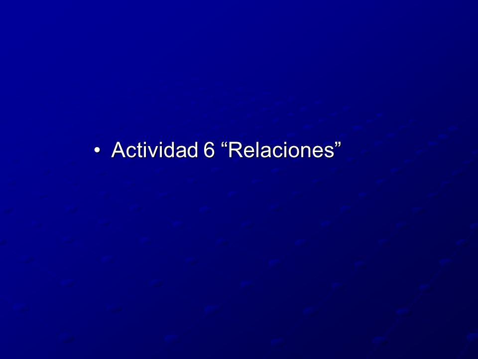 Actividad 6 RelacionesActividad 6 Relaciones