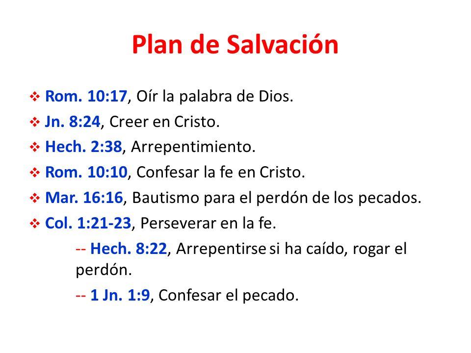 Plan de Salvación Rom.10:17, Oír la palabra de Dios.