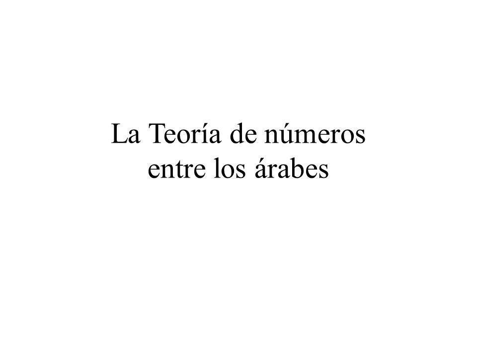 La Teoría de números entre los árabes