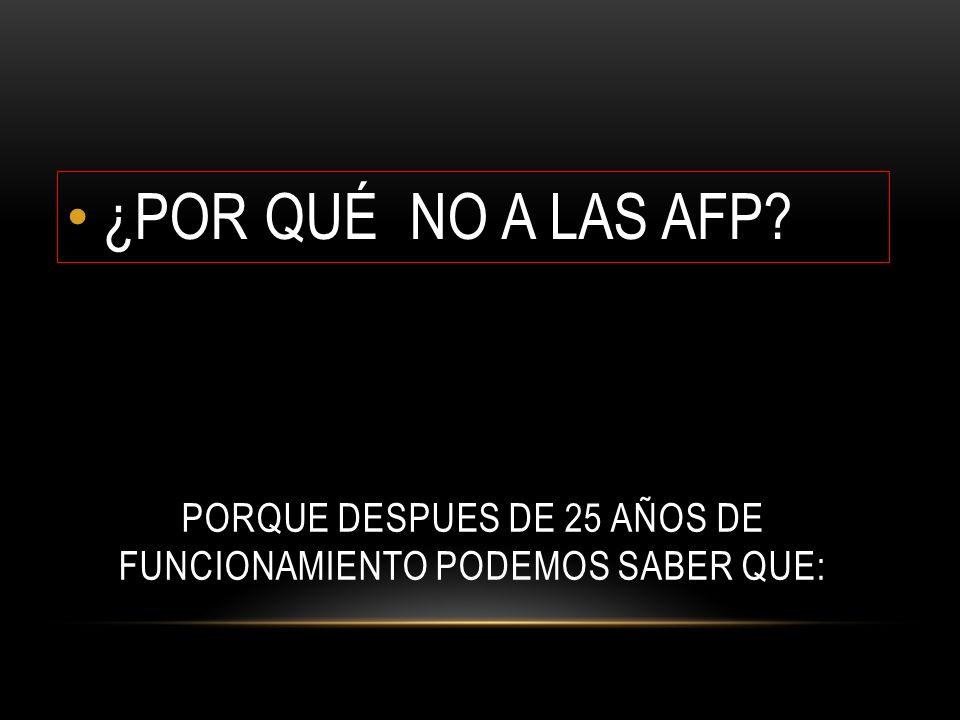 ENTRE 1982 – 2008 LAS AFP NOS DESCONTARON 37.4 BILLONES DE PESOS EN COTIZACIONES OBLIGATORIAS MIENTRAS EN IGUAL PERÍODO, LAS AFP Y CÍA.