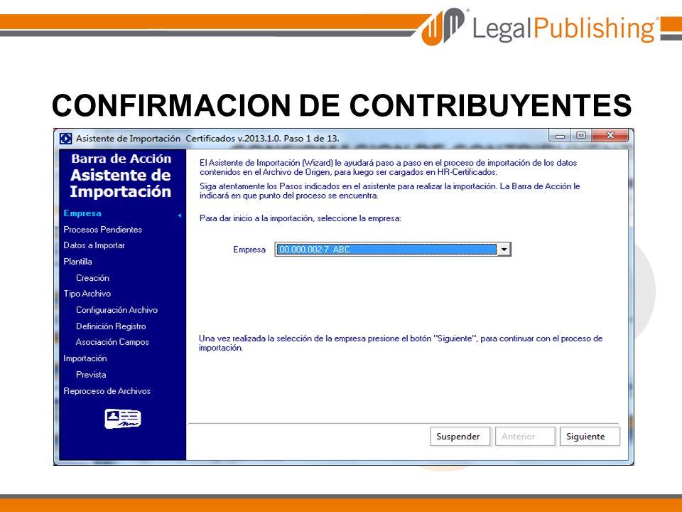 CONFIRMACION DE CONTRIBUYENTES