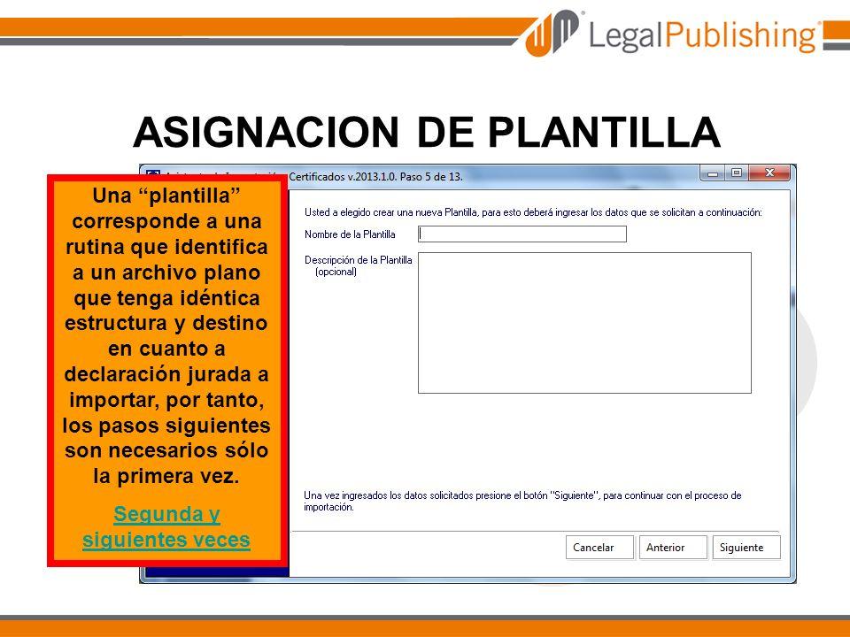 CARGA DE DATOS HAGA CLIC Volver a definición de plantilla