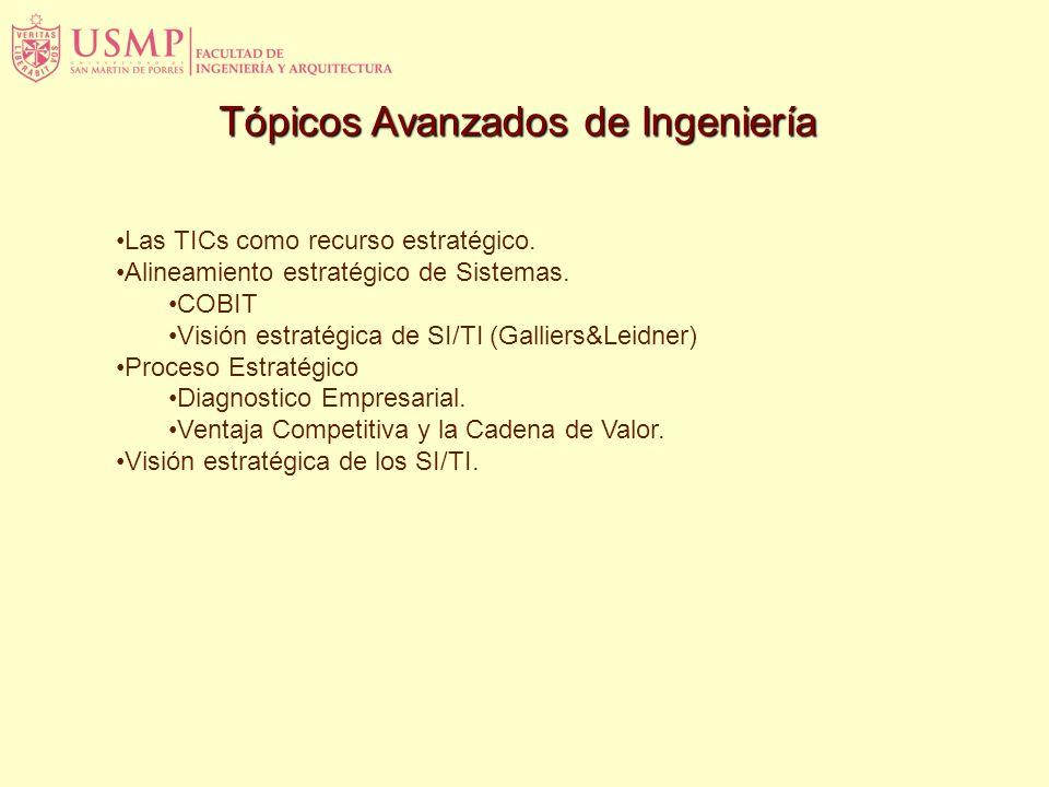 Tópicos Avanzados de Ingeniería Las TICs como recurso estratégico.