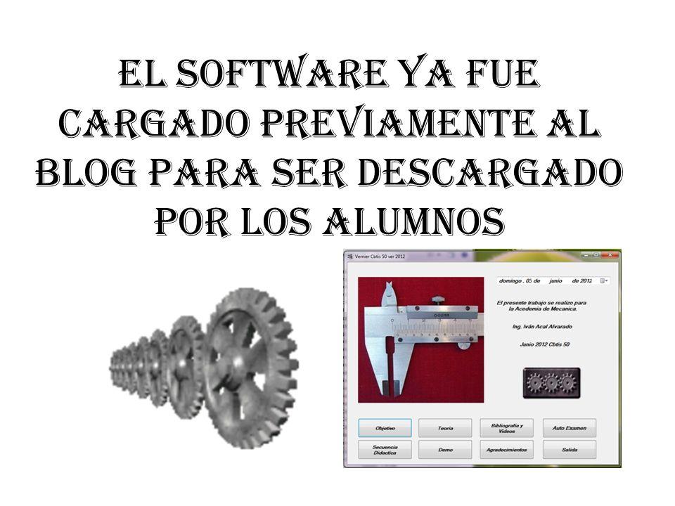 El software ya fue cargado previamente al blog para ser descargado por los alumnos