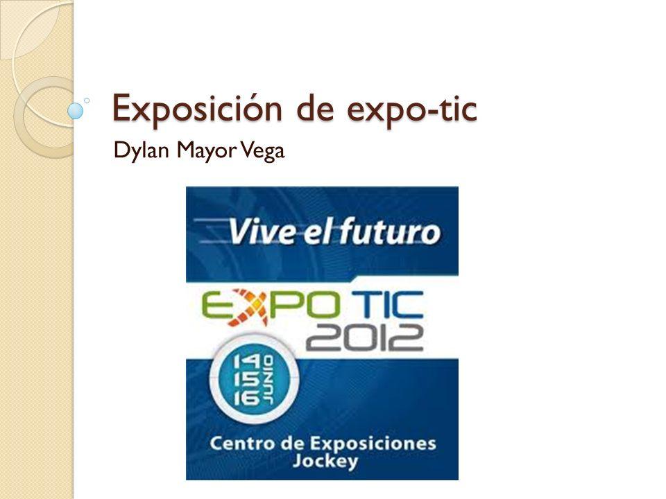 Exposición de expo-tic Dylan Mayor Vega