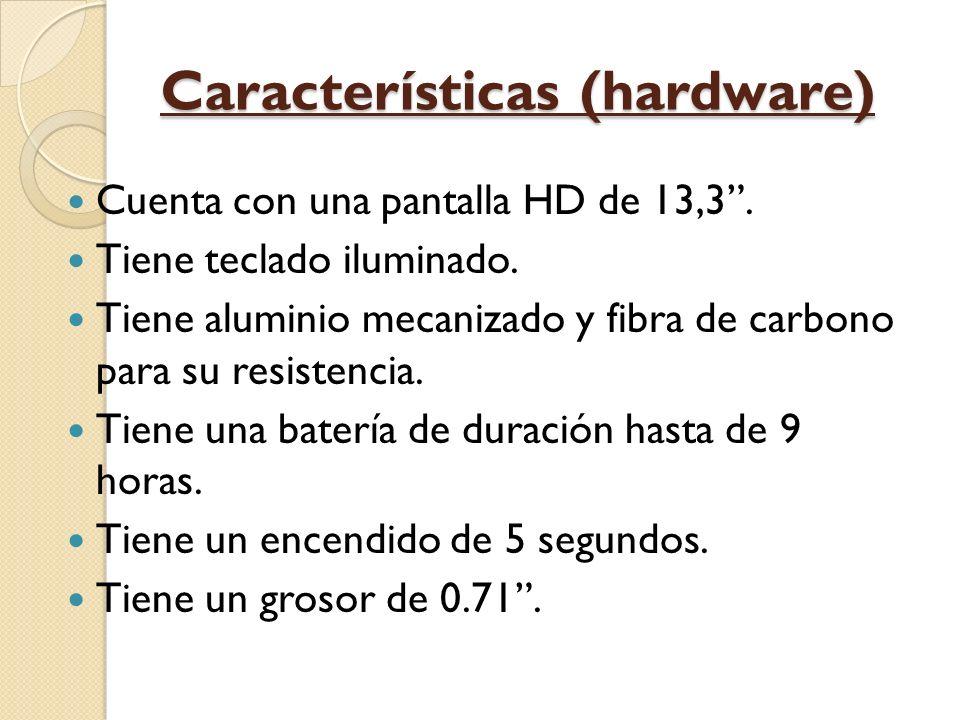 Características (hardware) Cuenta con una pantalla HD de 13,3.