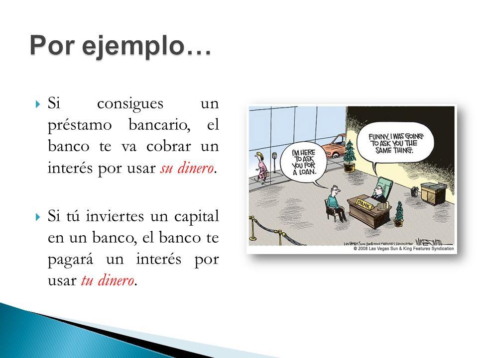 El interés es la diferencia entre dos cantidades: el capital y el monto.
