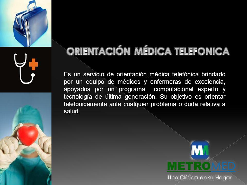 Es un servicio de orientación médica telefónica brindado por un equipo de médicos y enfermeras de excelencia, apoyados por un programa computacional e