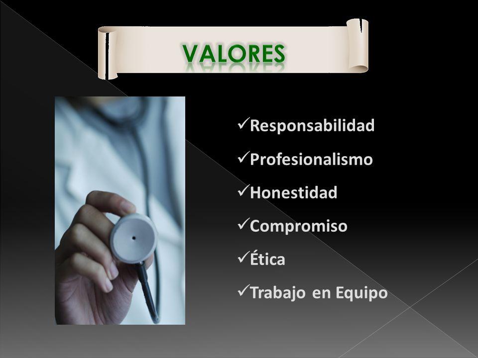 Responsabilidad Profesionalismo Honestidad Compromiso Ética Trabajo en Equipo