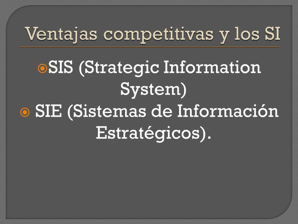 SIS (Strategic Information System) SIE (Sistemas de Información Estratégicos).