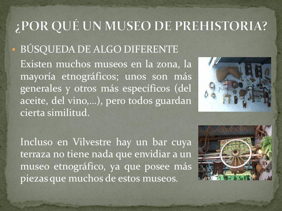 BÚSQUEDA DE ALGO DIFERENTE Existen muchos museos en la zona, la mayoría etnográficos; unos son más generales y otros más específicos (del aceite, del vino,…), pero todos guardan cierta similitud.