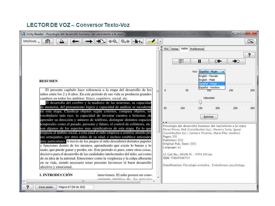 LECTOR DE VOZ – Conversor Texto-Voz