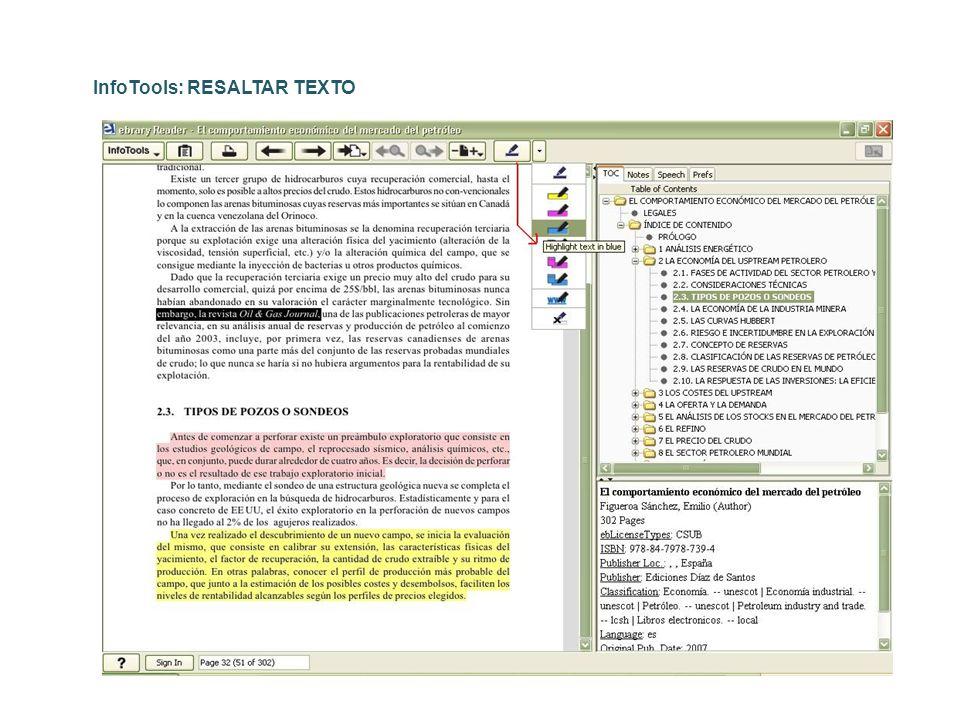 InfoTools: RESALTAR TEXTO