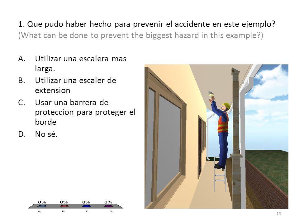 1. Que pudo haber hecho para prevenir el accidente en este ejemplo.