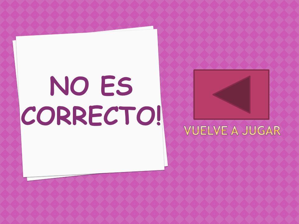 NO ES CORRECTO!