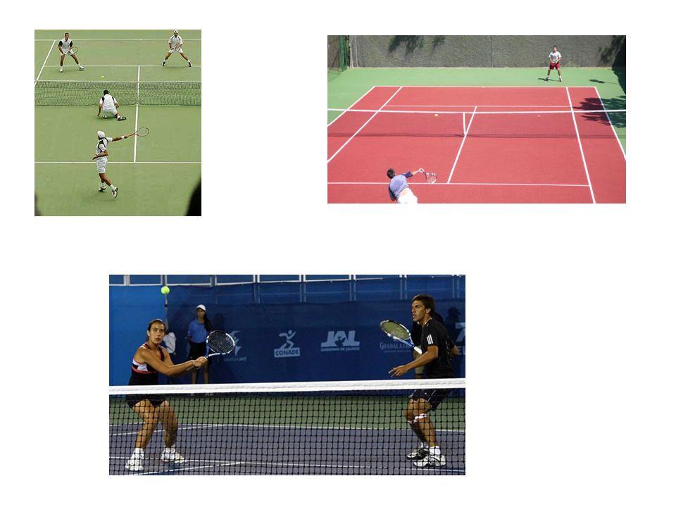 Golpes Existen varios tipos de golpes: -Saque: Se empieza el punto y el jugador puede hacer saque directo.