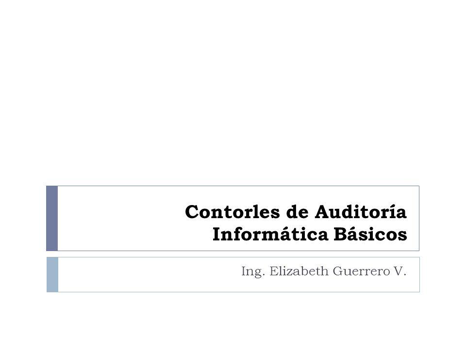 Contorles de Auditoría Informática Básicos Ing. Elizabeth Guerrero V.