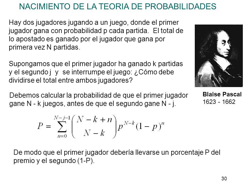 31 Distribución multinomial Podemos generalizar la distribución binomial cuando hay más de dos acontecimientos posibles (A 1, A 2, A 3...) con probabilidades p 1, p 2, p 3...