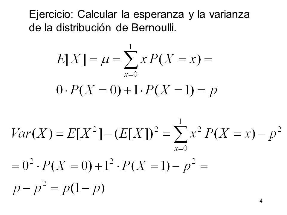 5 Distribución geométrica Consideremos el siguiente experimento: Partimos de un experimento de Bernoulli donde la probabilidad de que ocurra un suceso es p (éxito) y la probabilidad de que no ocurra q = 1- p (fracaso).