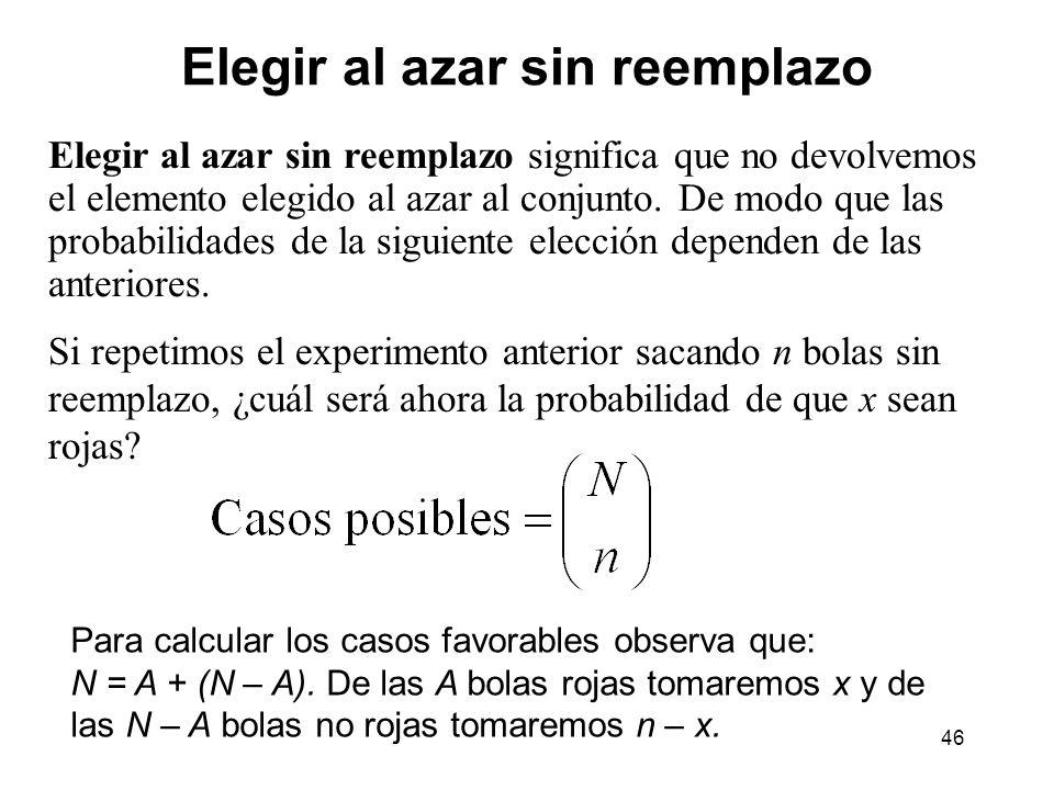 47 Distribución hipergeométrica