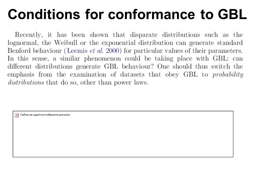 Conditions for conformance to GBL
